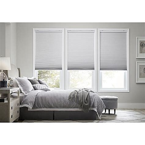 real simple blinds real simple 174 cordless blackout cellular shade bed bath