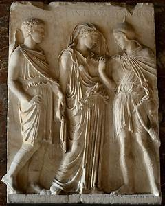 Orpheus, Eurydice and Hermes. Relief. Greek copy of ca. 50 ...