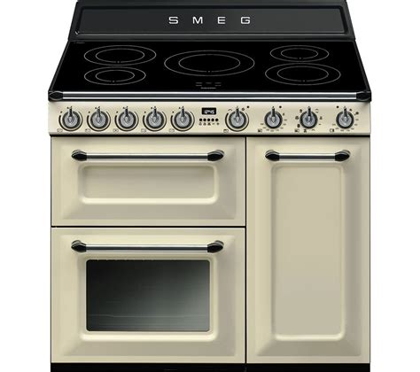 buy smeg tr93ip 90cm electric induction range cooker and stainless steel free delivery