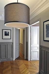 Abat Jour Salle De Bain : murs gris bicolores cuisine d co maison deco et peinture boiserie ~ Melissatoandfro.com Idées de Décoration