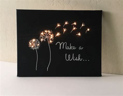 diy kit light up canvas chalkboard create your own craft