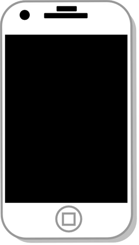 iphone clipart white iphone clip at clker vector clip