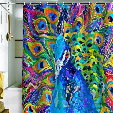 colorful shower curtains peacock shower curtains in 10 colorful and eccentric