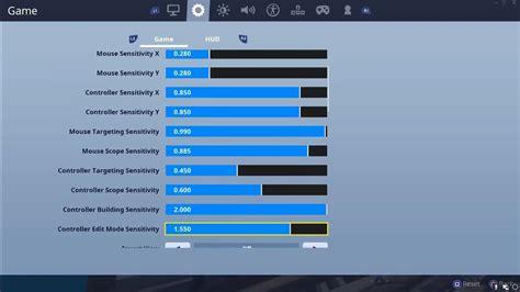 controller fortnite sensitivity settings dead