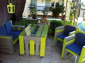 Salon De Jardin Couleur : 6 tables en palettes pour un jardin hyper sympa i deco cool ~ Teatrodelosmanantiales.com Idées de Décoration