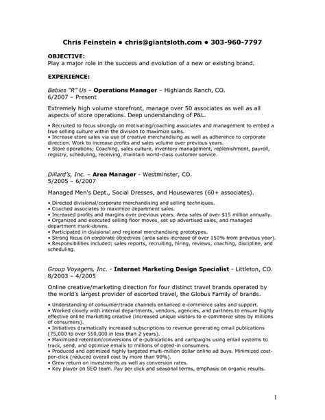 Description Resume by Sales Associate Descriptions For Resume