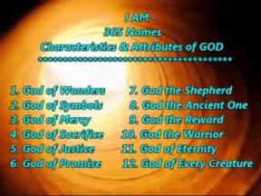 I AM 365 Names of God Scripture List with Quotations