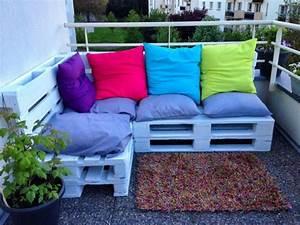 Sofa Für Balkon : wie baue ich ein sofa aus europaletten diy anleitung und 40 ideen diy zenideen ~ Eleganceandgraceweddings.com Haus und Dekorationen