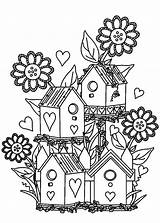 Coloring Garden Pages Flower Bird Gardens Colouring Birdhouse Adult Printable Alexander Flowers Drawing Tocolor Houses Adults Gardening Printables Getdrawings Draw sketch template