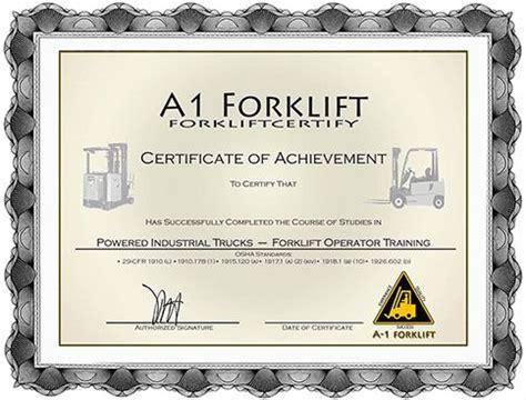 Forklift Certificate Template Erieairfair