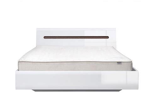 Platform Double Bed 160 Cm Azteca White/white High Gloss