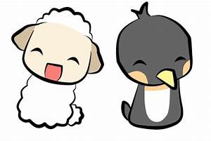 Sheep and Penguin by ChobiChibi on DeviantArt