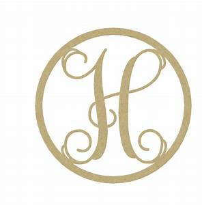 Wooden monogram letter h large or small unfinished by buildeez for Small monogram letters