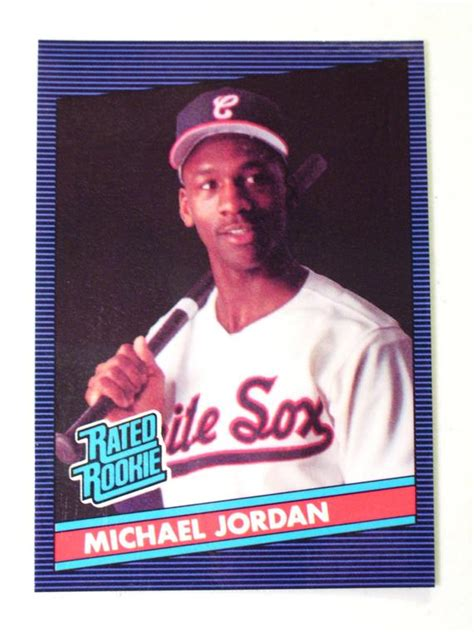 Since jordan's retirement in 2003, the collector demand but with the popularity of the card, a thriving counterfeit market has emerged in which the jordan rookie has become one of the most popular. Rare Rated Rookie Michael Jordan Baseball Card 1990 Chicago