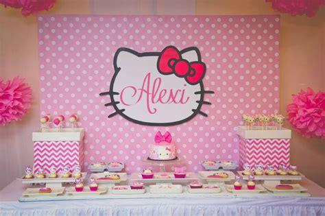 alexis  kitty themed dessert table lias party
