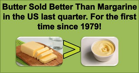 Butter Is Healthier Than Margarine  And Finally Sells