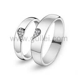 inexpensive wedding ring sets personalized half shaped promise rings for him and personalized couples gifts his