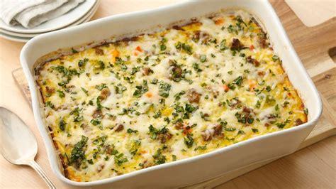 egg bake casserole recipe overnight sausage egg bake recipe pillsbury com