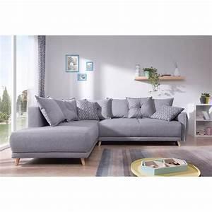 Canapé D Angle Gris Pas Cher : lena canap scandinave d 39 angle gauche gris clair ~ Melissatoandfro.com Idées de Décoration
