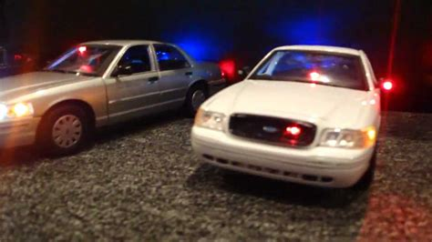 1 18 police car with 1 18 police cars working lights youtube
