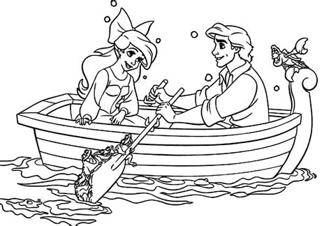 Disney Ariel And Eric Coloring Pages
