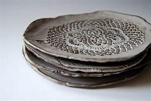 handmade ceramic plates for dessert (set of 4) | Serving ...