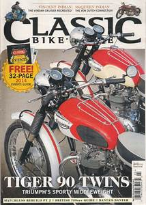 New  Classic Bike Uk March 2014 Tiger 90 Twins   32