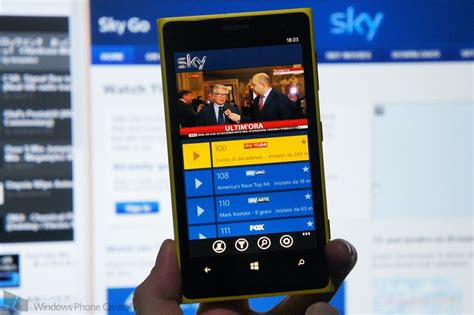 sky releases go app for windows phone in italy windows