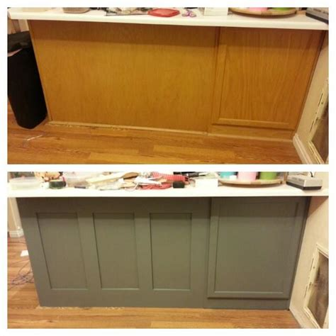 diy update kitchen cabinets remodelaholic diy refinished and painted cabinet reviews 6896