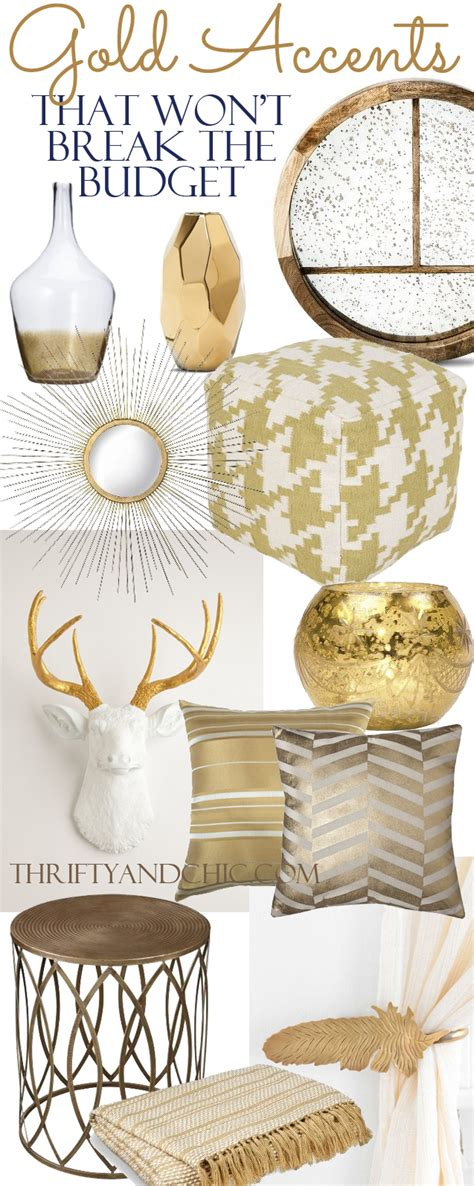 Using Gold Accents In Interior Design by 18 Gold Home Decor Pieces That Won T The Budget