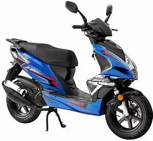 Roller Stoffschrank Fancy Blau : luxxon motorroller 50 ccm 45 km h jackfire otto ~ Watch28wear.com Haus und Dekorationen