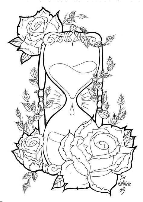 hourglass | Skull coloring pages, Coloring pages, Coloring