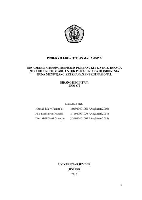 Contoh Judul Pkm Ai Yang Lolos Dikti - Contoh Soal2