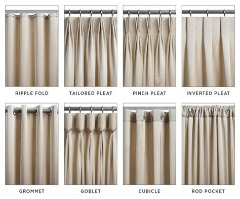 Different Styles Of Drapes - types of curtains and draperies decorating tips