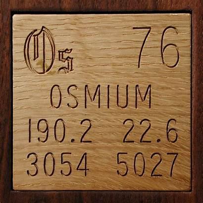 Osmium Periodic Table Element Os Iridium Elements