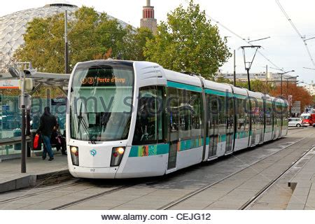 tramway line 3 in porte de versailles station stock photo royalty free image 43433618