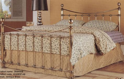 Antique Brass Effect Gold Metal Bed Frame 4ft6 Double