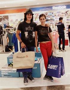 Vino G. Bastian and Marsha Timothy in PlanetSports store ...