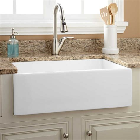 30 apron front sink white 30 quot risinger fireclay farmhouse sink smooth apron