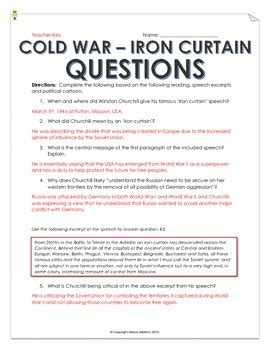 Iron Curtain Speech Cold War Definition by Cold War Iron Curtain Speech And Analysis With