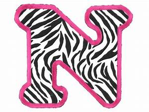 printable pink zebra print letters - Google Search | Sassy ...