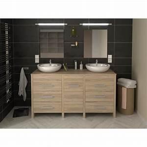 meuble de salle de bain hero double vasque 150 cm finition With meuble double vasque sur pied