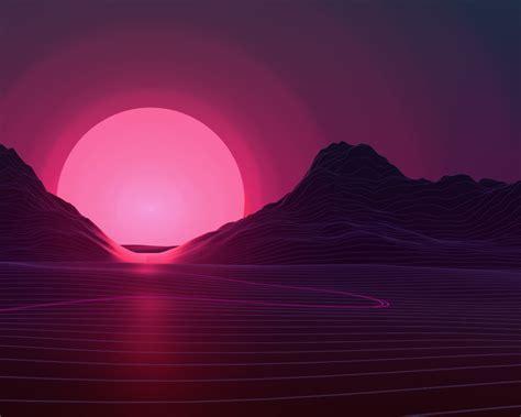 Neon Sunset, Hd 4k Wallpaper