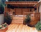 privacy deck pergola | Hot tub outdoor, Hot tub backyard ...