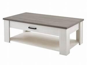 Table Basse Rectangulaire Avec 1 Tiroir Et 1 Niche