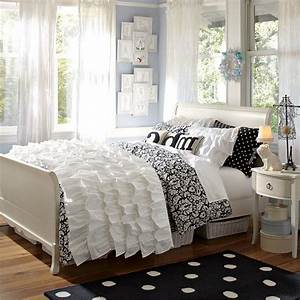 Bedroom Lace White Bedcover Black And White Bedsheet Mini ...