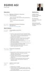 shipping and receiving clerk resume clerk resume sles visualcv resume sles database