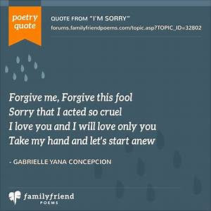 I'm Sorry Poems - Love Poems Perfect for Saying I'm Sorry
