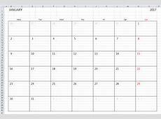 Simple 2018 Excel Calendar Template