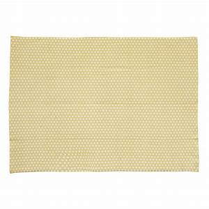 tapis en coton jaune moutarde 140 x 200 cm origami With tapis jaune moutarde